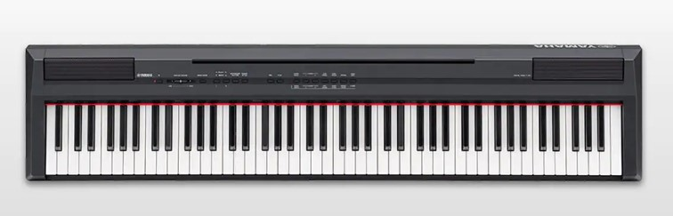 yamaha p series p105b 88 key digital piano the most popular p series. Black Bedroom Furniture Sets. Home Design Ideas
