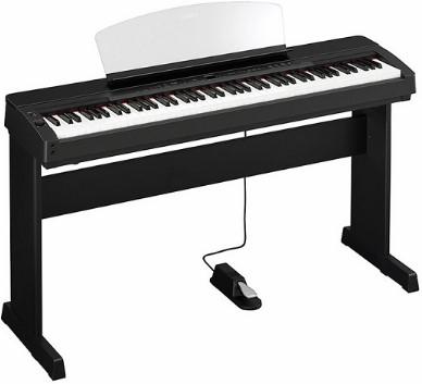 Amazoncom Yamaha P155 Contemporary Piano With Mahogany Top